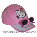 CASQUETTE-plus-LUNETTES-HELLO-KITTY-ROSE