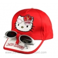 CASQUETTE + LUNETTES HELLO KITTY - ROUGE